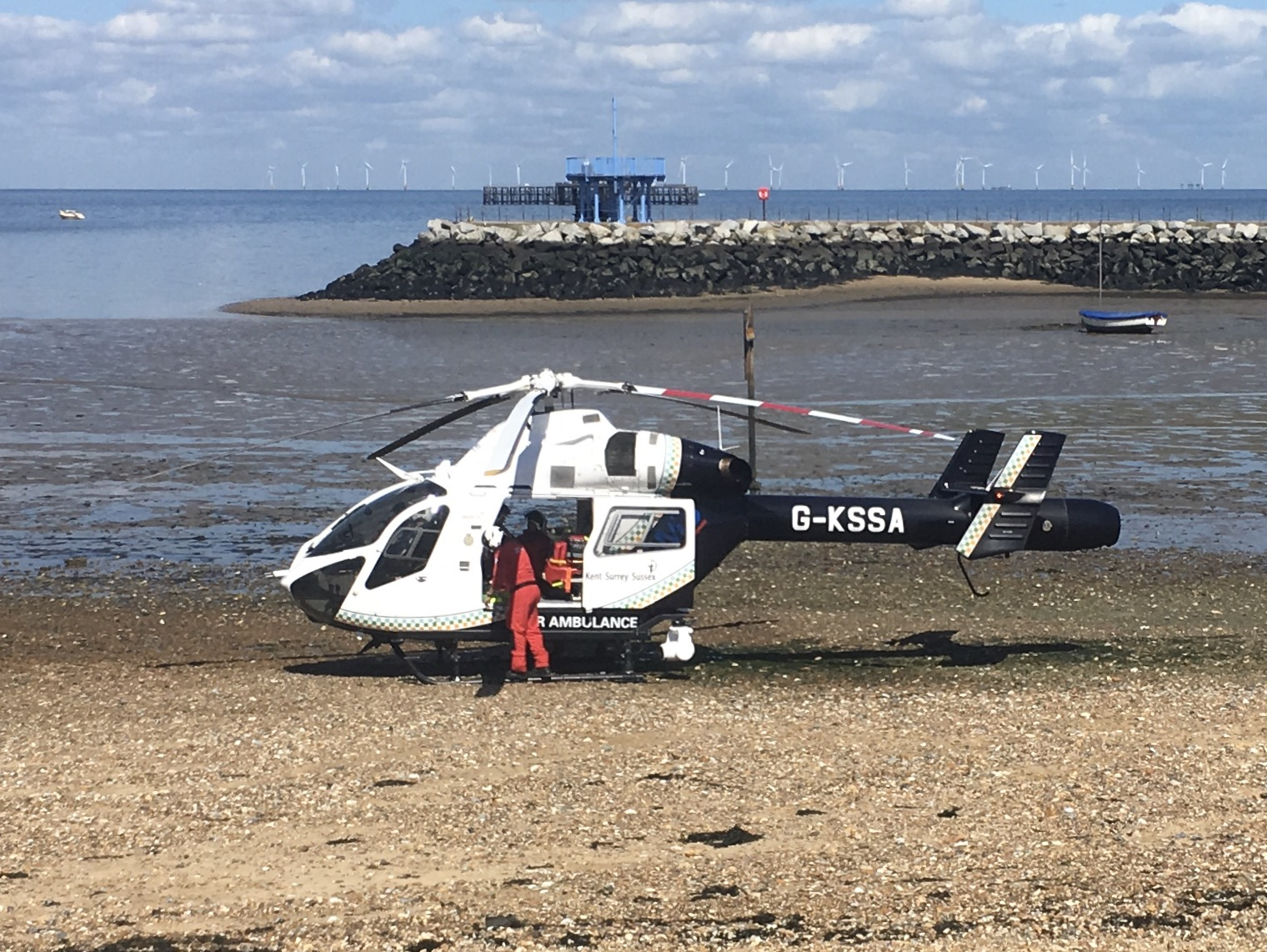 Kent Air Ambulance on Herne Bay Beach